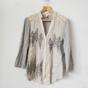 Anthropologie Tiny Cotton & Silk Blend Top, Large